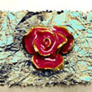 Grum Wrapper - Teal Art Print