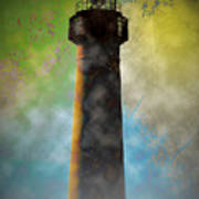 Grunge Lighthouse Art Print
