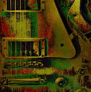 Grunge Metal Art Print