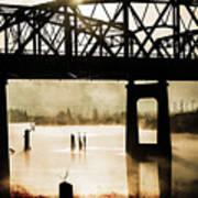 Grunge River Art Print