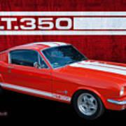 Red Gt 350 Mustang Art Print