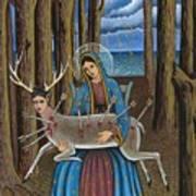 Guadalupe Visits Frida Kahlo Art Print
