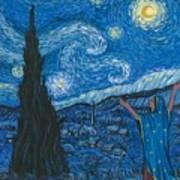 Guadalupe Visits Van Gogh Art Print