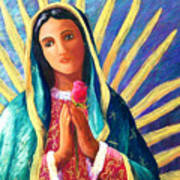 Guadalupe With Rose Art Print