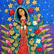 Guadalupe With Stars Art Print