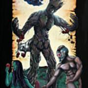 Guarden Of Eden Or Guardians Of Eden Original Available Art Print
