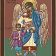 Guardian Angel Guarding Little Elijah Gemmell 191 Art Print