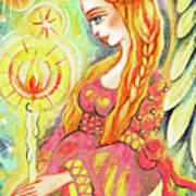 Guardian Mother Of Light Art Print