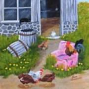 Guarding The Hen House Art Print