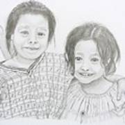 Guatemalan Friends Art Print