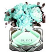 Gucci Blue Perfume Art Print