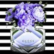 Gucci Perfume Violet Art Print