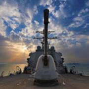 Guided-missile Destroyer Uss Higgins Art Print