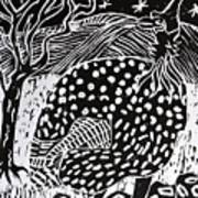 Guinea Fowl Under The Stars Art Print