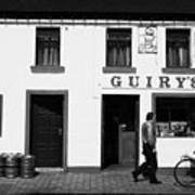 Guirys Irish Pub Foxford County Mayo Ireland Art Print by Joe Fox