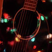 Guitar And Lights Art Print