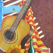 Guitar And Oranges Art Print