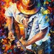 Guitar And Soul Art Print