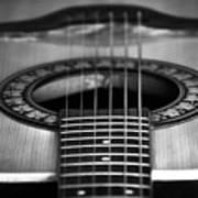 Guitar Close Up Art Print
