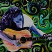Guitar Heroine Art Print