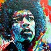 Guitar Legend Art Print
