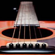 Guitar Orange 19 Art Print