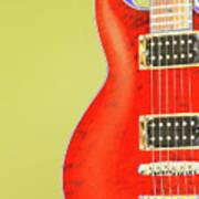 Guitar Pic Art Print