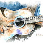 Guitar Riffs... Art Print