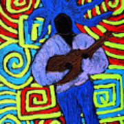 Guitar Solo Art Print