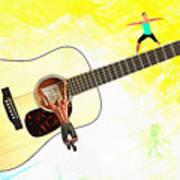 Guitar Workout Art Print