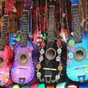 Guitarras Floriadas II Art Print