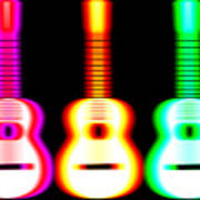 Guitars On Fire Art Print by Andy Smy