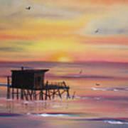Gulf Coast Fishing Shack Art Print