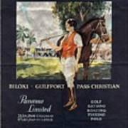 Gulf Coast - Illinois Central - Vintage Poster Folded Art Print