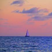 Gulf Coast Sailboat Art Print