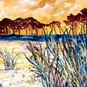 Gulf Coast Seascape Tropical Art Print Art Print