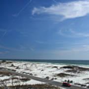 Gulf Of Mexico At Pensacola Beach Art Print