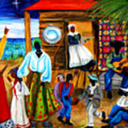 Gullah Christmas Art Print by Diane Britton Dunham
