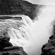 Gullfoss Waterfall Iceland Art Print