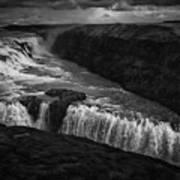 Gullfoss Waterfall Art Print