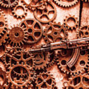 Guns Of Machine Mechanics Art Print