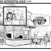 Gurley Street Coffee Art Print