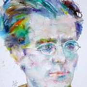 Gustav Mahler - Watercolor Portrait.3 Art Print