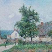 Gustave Loiseau 1865 - 1935 Small Farm In Vaudreuil, Time Gray Art Print