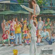 Gymnast Art Print by Charles Hetenyi