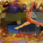 Gymnast Girl Art Print