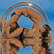 Gymnastic Girls 1209185 Art Print