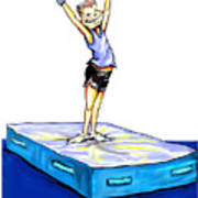 Gymnastic Perfection Art Print