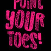Gymnastics Point Your Toes Hot Pink Gymnast Light Art Print