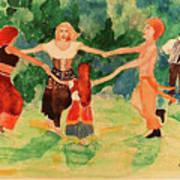Gypsies Dancing Art Print